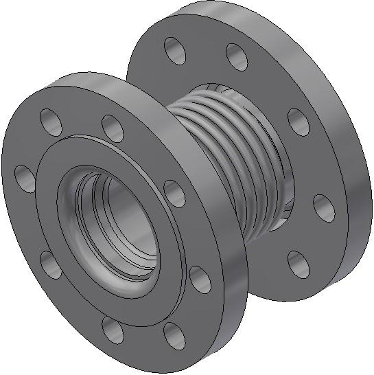 Axialkompensator - AF 65/16/a 28/L/L - Nennlänge = 130mm