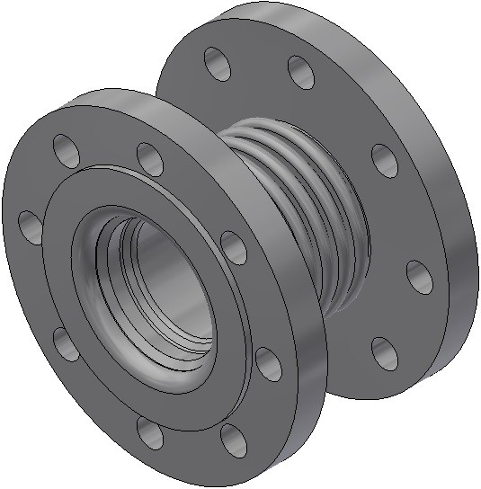 Axialkompensator - AF 125/16/a 33/L/L - Nennlänge = 130mm