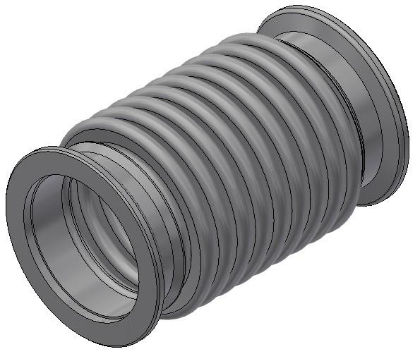 KF-Wellbalg DN40 - AN 32/ 1/a 26/F /F - Nennlänge = 90mm
