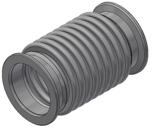KF-Wellbalg DN40 - AN 32/ 1/a 12/F /F - Nennlänge = 60mm