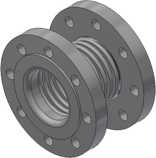 Axialkompensator - AN 15/ 16/a 18/L/L - Nennlänge = 165mm